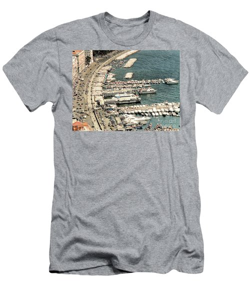 Men's T-Shirt (Athletic Fit) featuring the photograph Sorrento's Harbor, Italy by Merton Allen