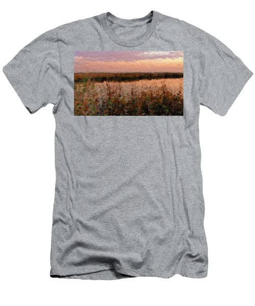 Men's T-Shirt (Slim Fit) featuring the digital art South Carolina Evening Marsh by Anthony Fishburne