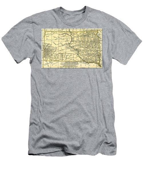 South Dakota Antique Map 1891 Men's T-Shirt (Athletic Fit)