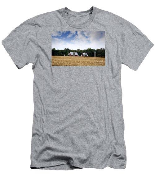Men's T-Shirt (Slim Fit) featuring the photograph South Dakota Barn by Yumi Johnson