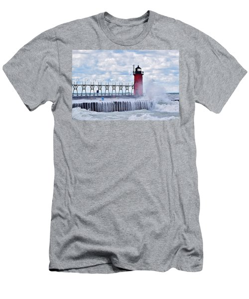 South Haven Lighthouse Men's T-Shirt (Athletic Fit)