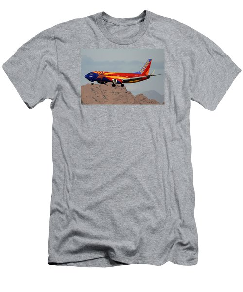 Southwest Boeing 737-3h4 N383sw Arizona Phoenix Sky Harbor December 20 2015  Men's T-Shirt (Slim Fit) by Brian Lockett