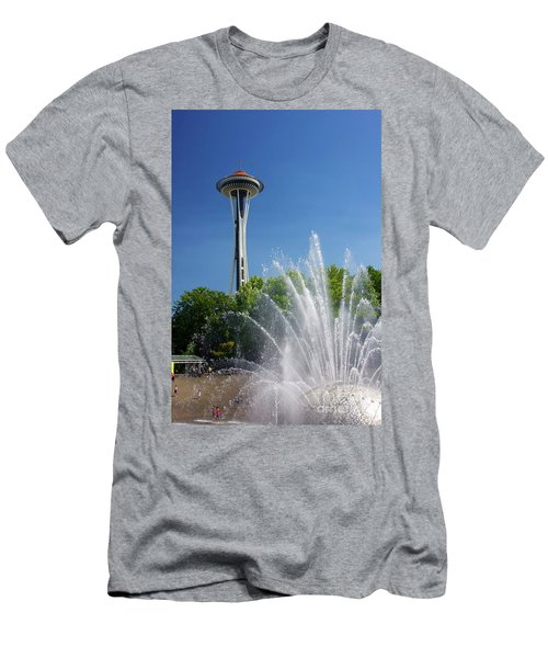 Space Needle In Seattle Men's T-Shirt (Athletic Fit)