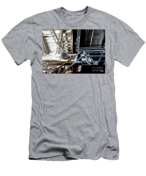 Men's T-Shirt (Slim Fit) featuring the digital art Space Station by Marsha Heiken