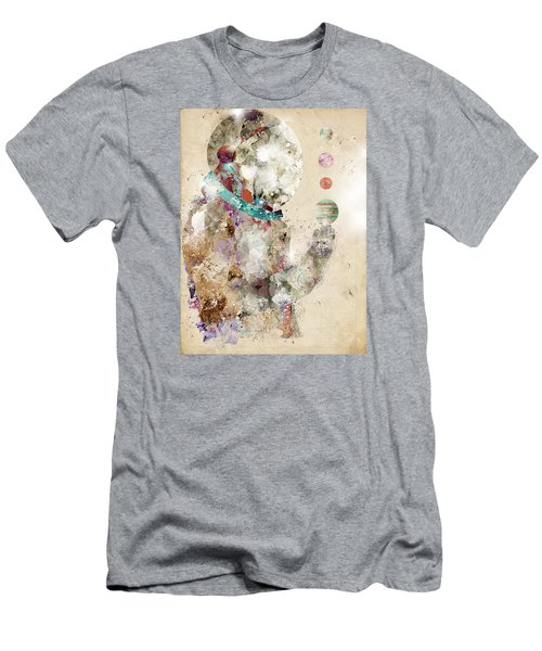 Men's T-Shirt (Slim Fit) featuring the painting Spaceman by Bri B