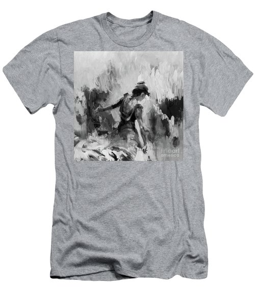 Men's T-Shirt (Slim Fit) featuring the painting Spanish Dance 7734j by Gull G
