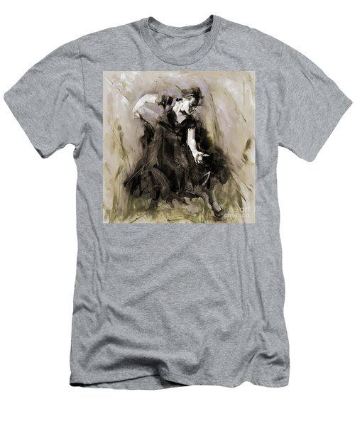 Men's T-Shirt (Slim Fit) featuring the painting Spanish Dancer 3400i by Gull G