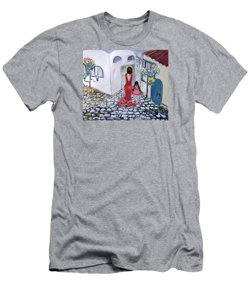 Spanish Style 2 Men's T-Shirt (Slim Fit) by Evelina Popilian