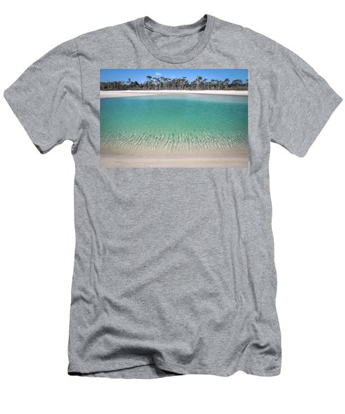 Sparkling Beach Lagoon On Deserted Beach Men's T-Shirt (Athletic Fit)