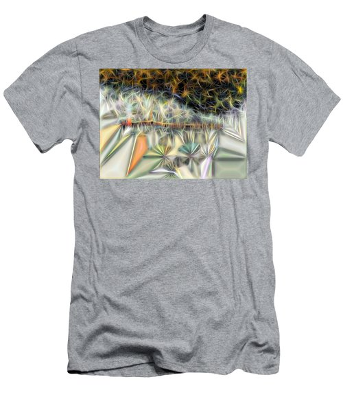 Men's T-Shirt (Slim Fit) featuring the digital art Sparks by Ron Bissett