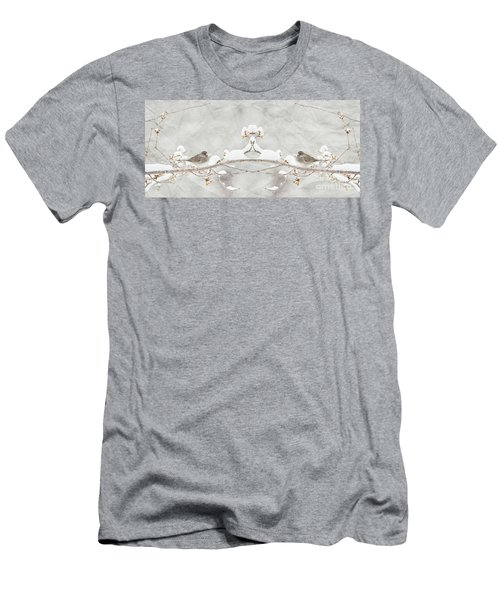 Sparrow In The Cherry Tree Men's T-Shirt (Slim Fit) by Lila Fisher-Wenzel