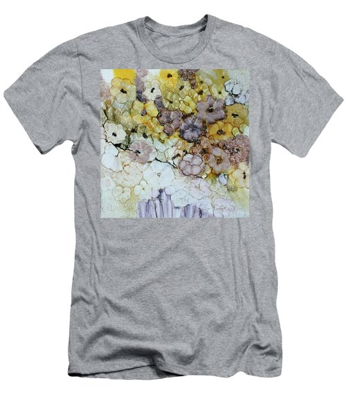 Men's T-Shirt (Slim Fit) featuring the painting Spash Of Sunshine by Joanne Smoley