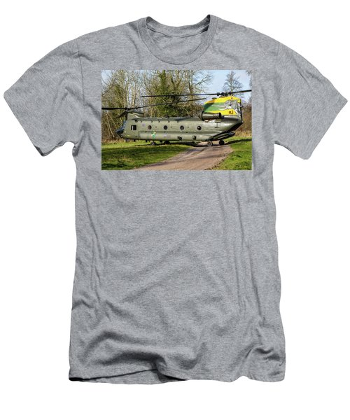 Special Tail Chinook 27 Squadron Men's T-Shirt (Slim Fit) by Ken Brannen