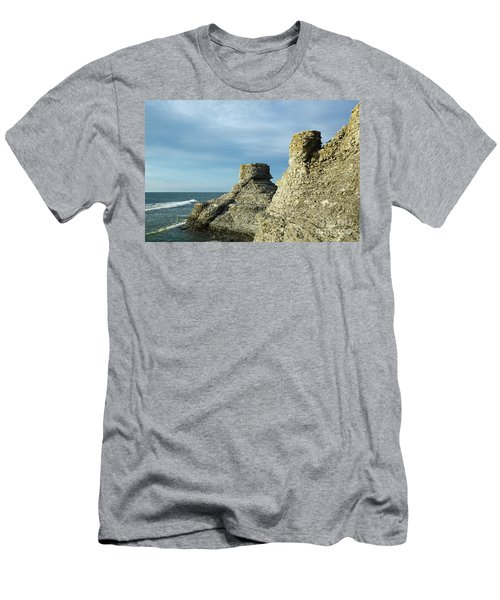 Men's T-Shirt (Athletic Fit) featuring the photograph Spectacular Eroded Cliffs  by Kennerth and Birgitta Kullman