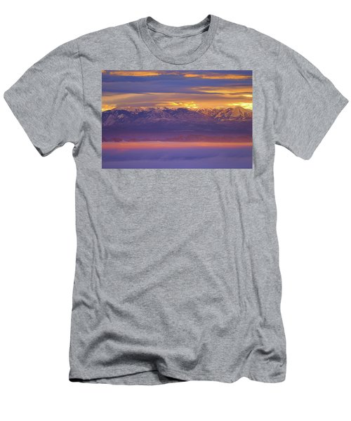Spectacular Surnise Of The La Sal Mountains From Dead Horse Point State Park Men's T-Shirt (Athletic Fit)