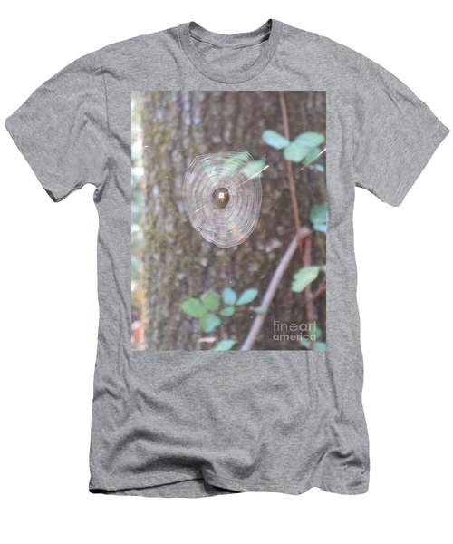 Men's T-Shirt (Athletic Fit) featuring the photograph Spider In The Round by Marie Neder