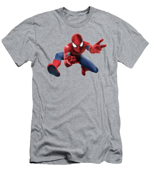 Spider Man Splash Super Hero Series Men's T-Shirt (Slim Fit)