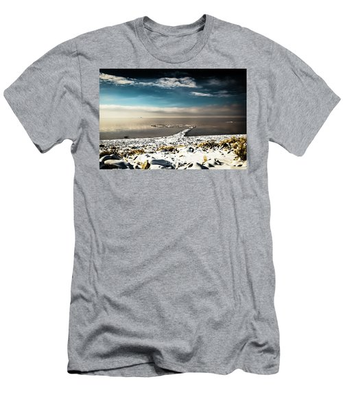 Spiral Jetty In Winter Men's T-Shirt (Athletic Fit)