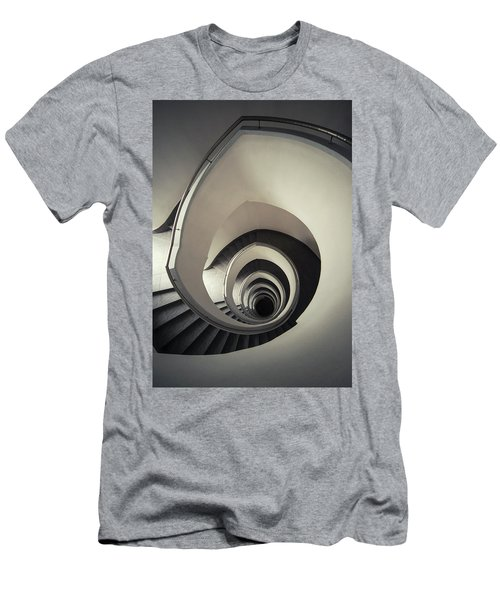 Spiral Staircase In Beige Tones Men's T-Shirt (Slim Fit) by Jaroslaw Blaminsky
