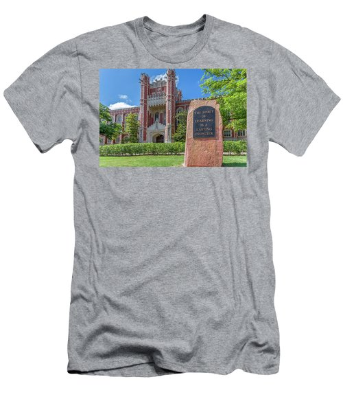 Spirit Of Learning Statue At The University Of Oklahoma  Men's T-Shirt (Athletic Fit)