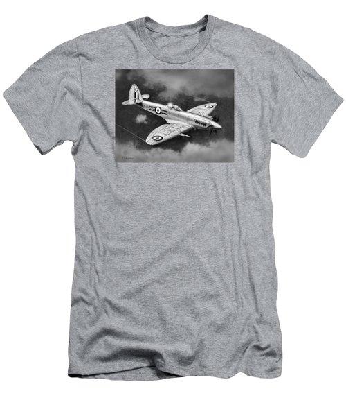 Spitfire Mark 22 Men's T-Shirt (Slim Fit) by Douglas Castleman