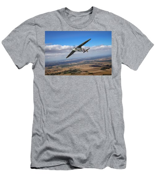 Men's T-Shirt (Athletic Fit) featuring the photograph Spitfire Tr 9 On A Roll by Gary Eason