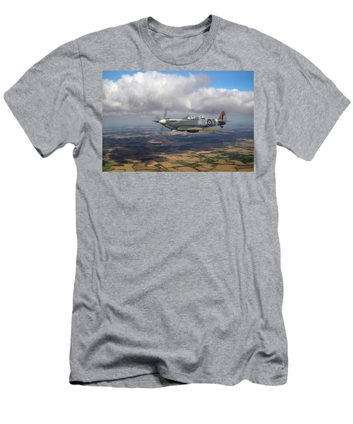 Men's T-Shirt (Athletic Fit) featuring the photograph Spitfire Tr 9 Sm520 by Gary Eason