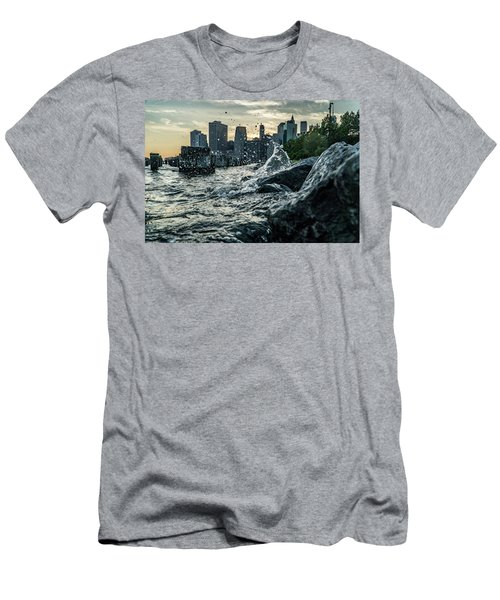 Men's T-Shirt (Athletic Fit) featuring the photograph Splash by Johnny Lam