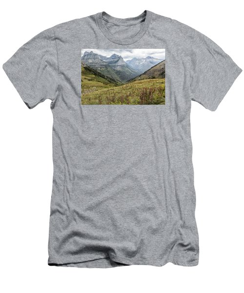 Men's T-Shirt (Athletic Fit) featuring the photograph Splendor From Highline Trail - Glacier by Belinda Greb