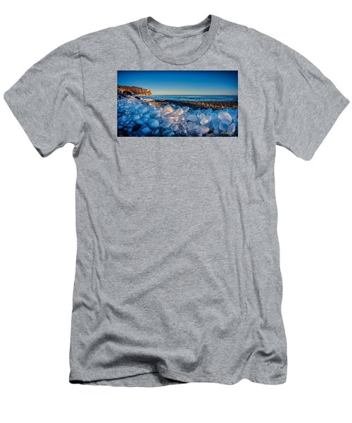 Split Rock Lighthouse With Ice Balls Men's T-Shirt (Athletic Fit)
