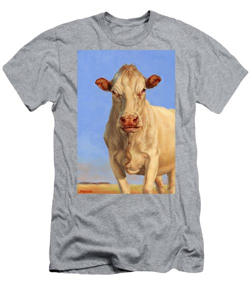 Spooky Cow Men's T-Shirt (Slim Fit)