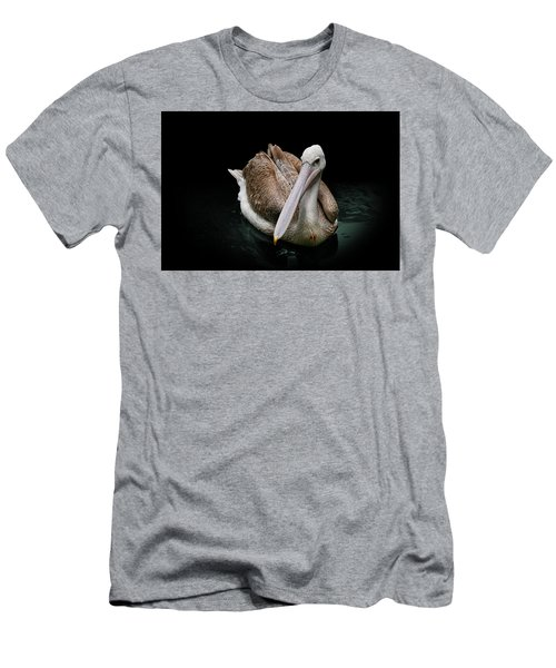 Spotlight On A Pink-backed Pelican Men's T-Shirt (Athletic Fit)