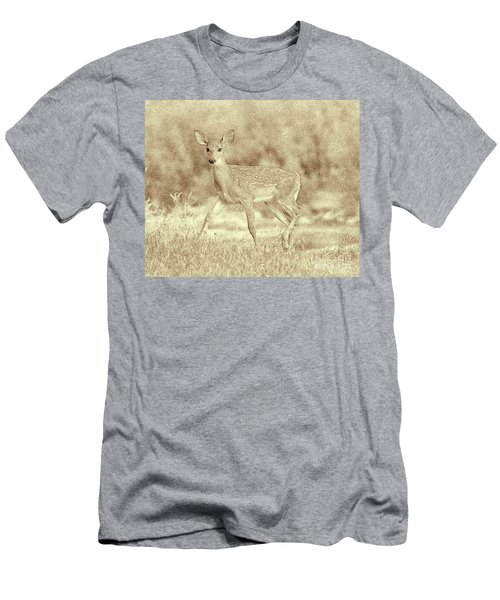 Spotted Fawn Men's T-Shirt (Slim Fit) by Jim Lepard
