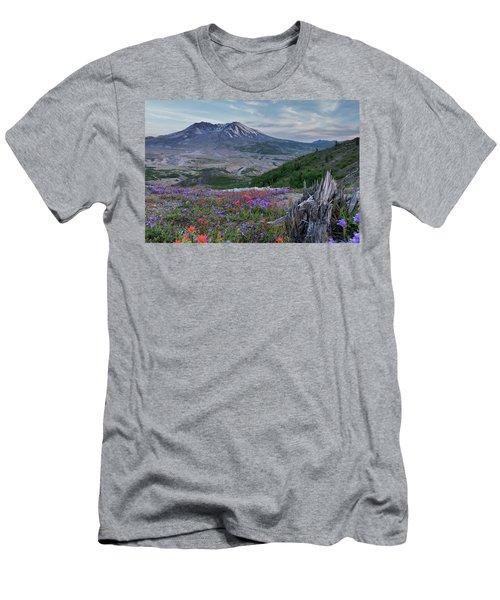 Spring Bloom Mt St Helens Men's T-Shirt (Athletic Fit)