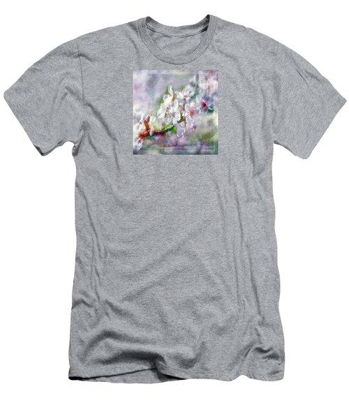 Spring Blossoms Men's T-Shirt (Slim Fit) by Jean OKeeffe Macro Abundance Art
