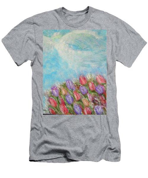 Spring Emerging Men's T-Shirt (Slim Fit) by Lyric Lucas