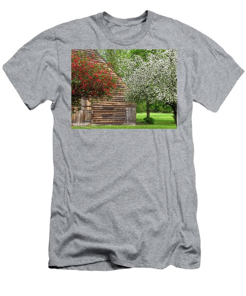 Spring Flowers And The Barn Men's T-Shirt (Athletic Fit)