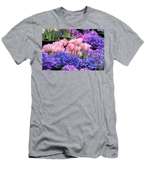 Men's T-Shirt (Slim Fit) featuring the photograph Spring Flowers by Darleen Stry