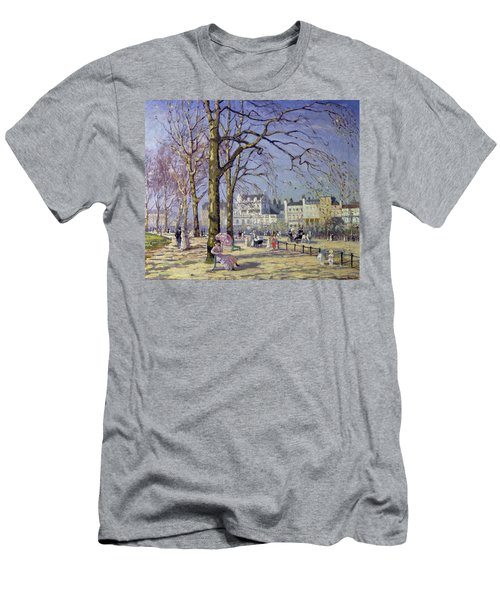 Spring In Hyde Park Men's T-Shirt (Slim Fit) by Alice Taite Fanner