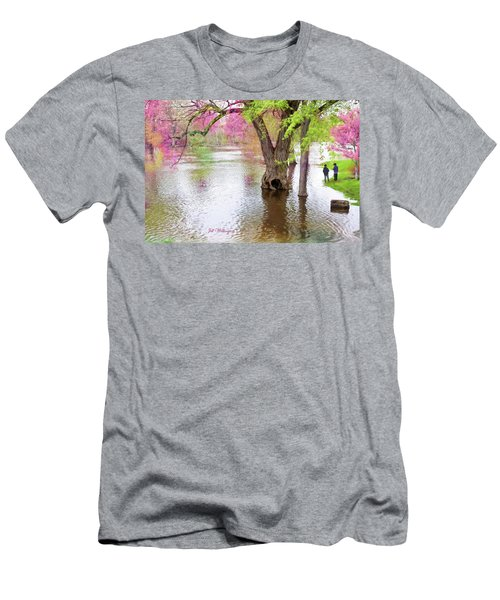 Men's T-Shirt (Athletic Fit) featuring the digital art Spring by Jill Wellington
