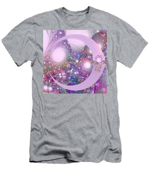 Spring Moon Bubble Fractal Men's T-Shirt (Athletic Fit)