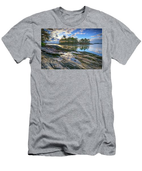 Men's T-Shirt (Slim Fit) featuring the photograph Spring Morning At Wolfe's Neck Woods by Rick Berk