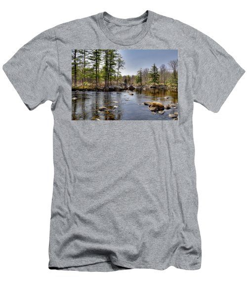 Men's T-Shirt (Slim Fit) featuring the photograph Spring Near Moose River Road by David Patterson