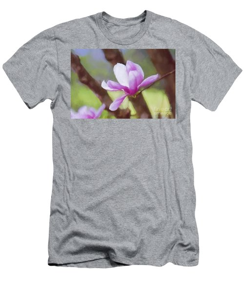 Spring Pink Saucer Magnolia Men's T-Shirt (Athletic Fit)
