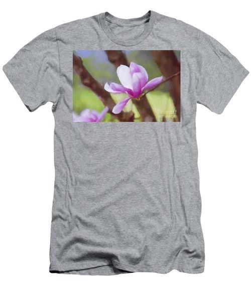 Spring Pink Saucer Magnolia Men's T-Shirt (Athletic Fit)