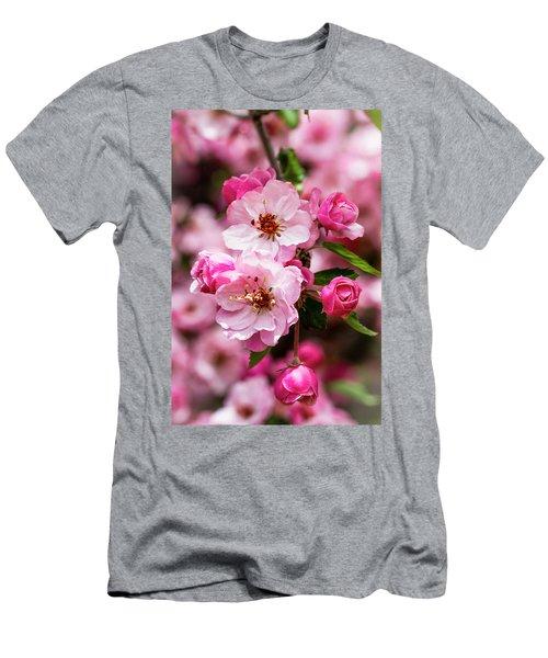 Spring Pink Men's T-Shirt (Slim Fit) by Teri Virbickis