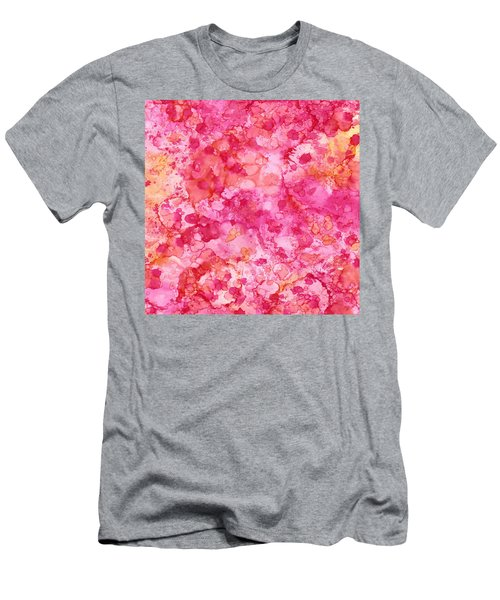 Spring Rose Abstract Men's T-Shirt (Athletic Fit)