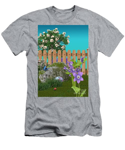 Men's T-Shirt (Slim Fit) featuring the digital art Spring Scene by Mary Machare