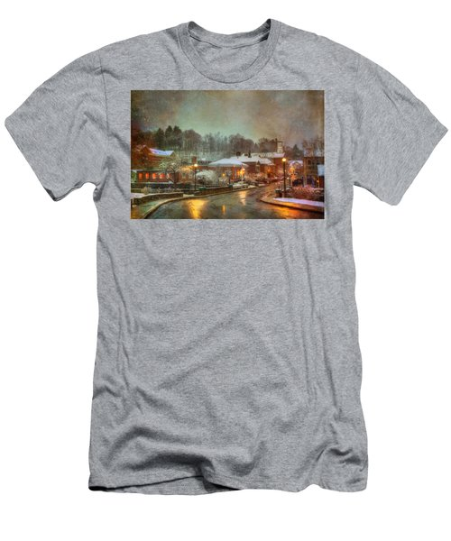 Spring Snow In Peterborough Nh Men's T-Shirt (Athletic Fit)