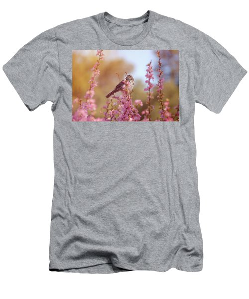 Spring Sparrow Men's T-Shirt (Slim Fit) by Lynn Bauer